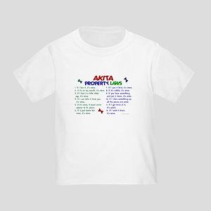 Akita Property Laws 2 Toddler T-Shirt