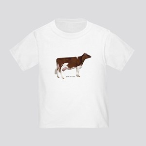 Red and White Holstein Cow Toddler T-Shirt