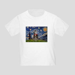 Starry Night / Tiger Cat Toddler T-Shirt