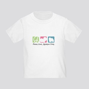 Peace, Love, Japanese Chins Toddler T-Shirt