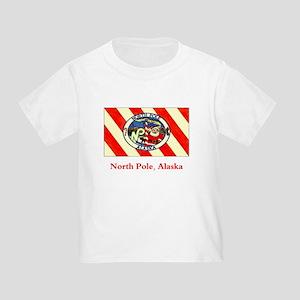North Pole AK Flag Toddler T-Shirt