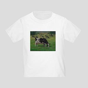 Holstein Milk Cow in Pasture Toddler T-Shirt