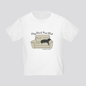 Black Lab - Play Hard Toddler T-Shirt
