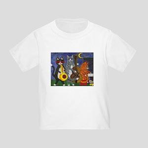 Jazz Cats at Night Toddler T-Shirt