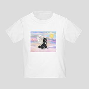 Black Akita Angel Toddler T-Shirt
