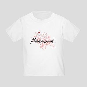 Montserrat Artistic Design with Butterflie T-Shirt