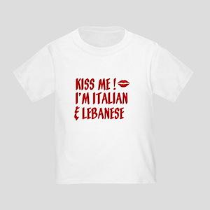 Kiss Me: Lebanese & Italian Toddler T-Shirt