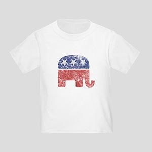 Worn Republican Elephant Toddler T-Shirt