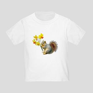 Squirrel Daffodils Toddler T-Shirt