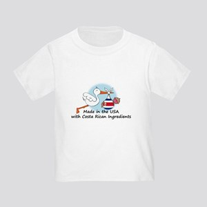 Stork Baby Costa Rica USA Toddler T-Shirt