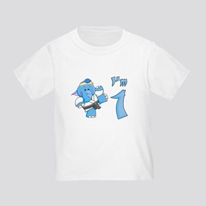 Elephant Karate First Birthday Toddler Tee