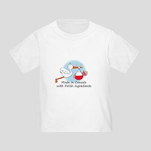 Stork Baby Poland Canada Toddler T-Shirt