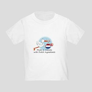Stork Baby Netherlands Canada Toddler T-Shirt