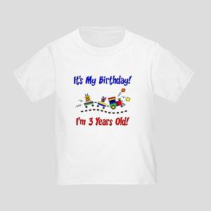 Train 3rd Birthday Toddler T-Shirt
