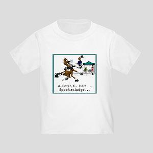 Spook at X Dressage Horse Toddler T-Shirt