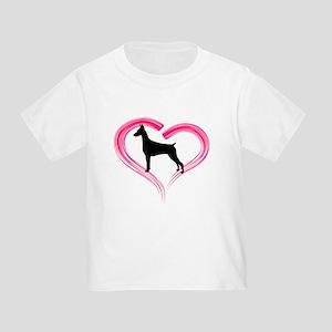 Heart My Doberman Toddler T-Shirt
