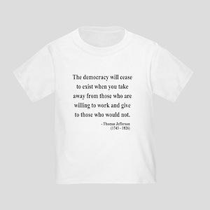 Thomas Jefferson 3 Toddler T-Shirt