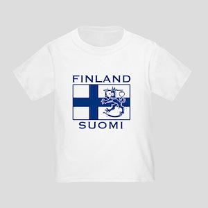 Finland Suomi Flag Toddler T-Shirt