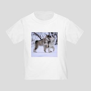 Wolves Playing Toddler T-Shirt