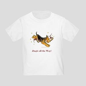Welsh Terrier Holiday Dog! Toddler T-Shirt