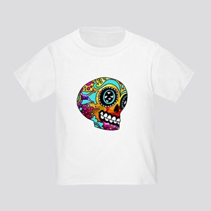 Color Splash Sugar Skull by OneCuriousHuma T-Shirt