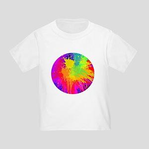 Colourful paint splatter T-Shirt