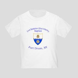 2nd Bn 22nd Inf Reg Toddler T-Shirt
