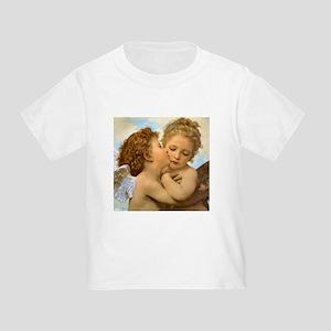 First Kiss by Bouguereau Toddler T-Shirt
