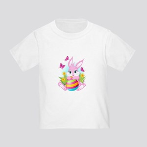Pink Easter Bunny Toddler T-Shirt