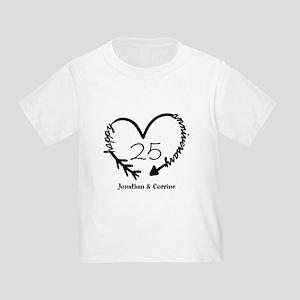 Custom Anniversary Doodle Heart Toddler T-Shirt