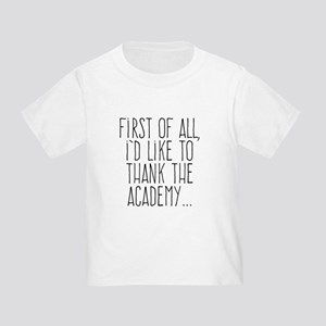 First of All, I'd Like to Thank the Academy... T-S