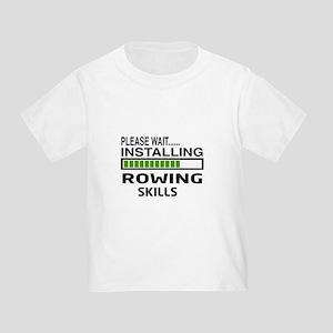 Please wait, Installing Rowing Ski Toddler T-Shirt