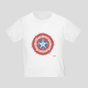 Captain America Shield Bling Toddler T-Shirt
