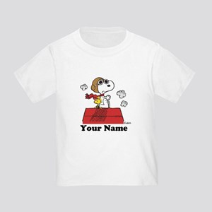 Peanuts Flying Ace Personalized Toddler T-Shirt