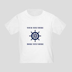 Custom Nautical Ship Wheel Sailing T-Shirt For Kid