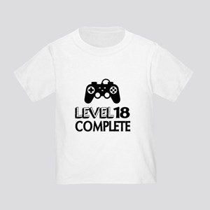 Level 18 Complete Birthday Designs Toddler T-Shirt