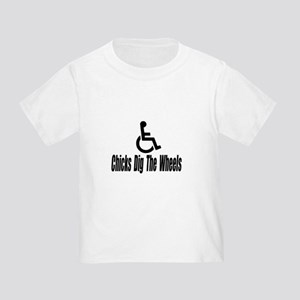 """Chicks Dig The Wheels"" Toddler T-Shirt"