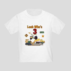 Construction 3rd Birthday Toddler T-Shirt