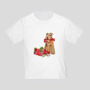 Airedale Terrier Christmas Toddler T-Shirt