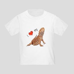 I luv my Bearded Dragon Toddler T-Shirt