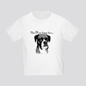 Boxer Happy Face Toddler T-Shirt