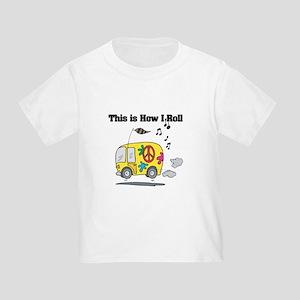 How I Roll (Hippie Bus/Van) Toddler T-Shirt
