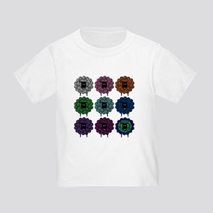 A Rainbow of Sheep Toddler T-Shirt