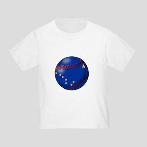 Baseball Alaska Flag Toddler T-Shirt