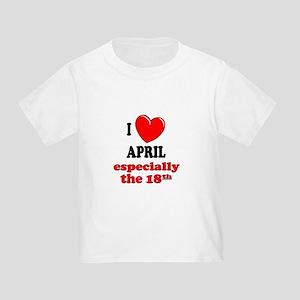 April 18th Toddler T-Shirt