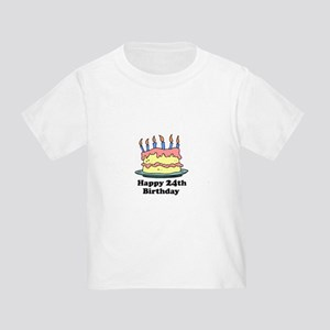 Happy 24th Birthday Toddler T-Shirt