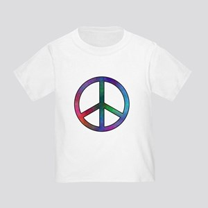 Multicolor Peace Sign Toddler T-Shirt