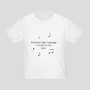 Deaf Music Toddler T-Shirt