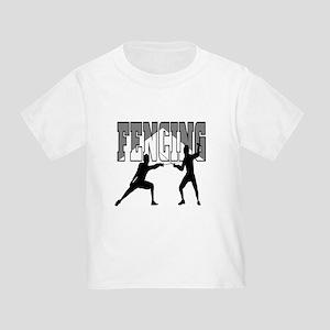 Fencing Logo (Black & Grey) Toddler T-Shirt
