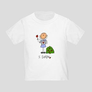 I Garden Stick Figure Toddler T-Shirt